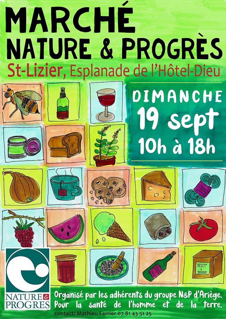 Marché Nature & Progrès Ariège à Saint-Lizier - Édition 2021